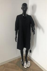 Czarna tunika sukienka wiazana na plecach L XL...