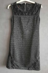 Czarna brokatowe sukienka...