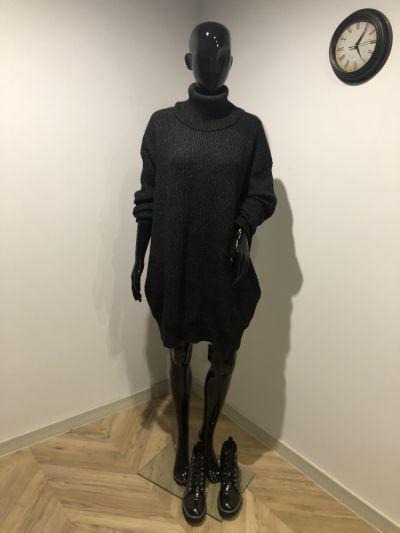 Suknie i sukienki Swetrowa sukienka z wysokim golfem Sinsay L