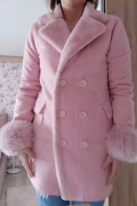 Płaszcz futro L XL