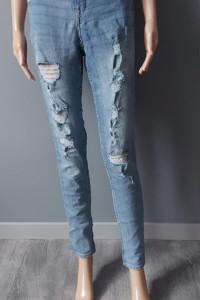 Spodnie Jeansowe Dziury Przetarcia Rurki H&M 38 M...