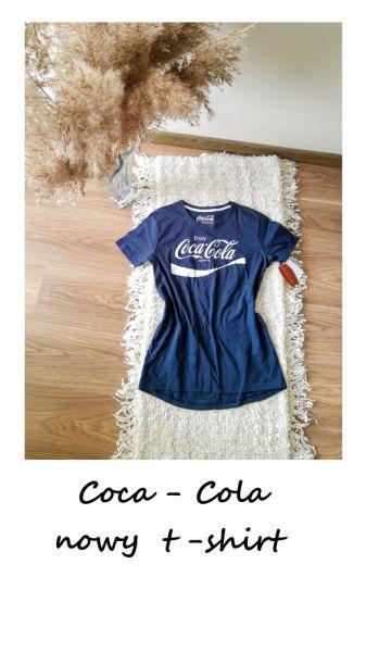 T-shirt Nowa koszulka Coca cola granatowa S M