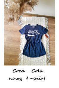 Nowa koszulka Coca cola granatowa S M...