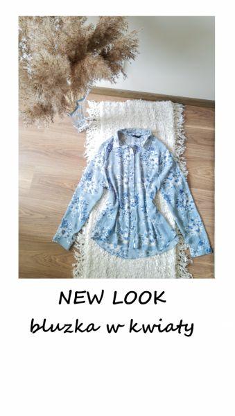 Bluzki Koszulowa elegancka bluzka M L kwiaty New Look