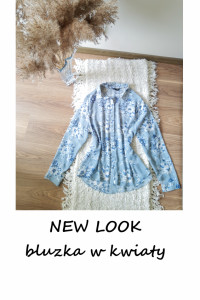 Koszulowa elegancka bluzka M L kwiaty New Look...