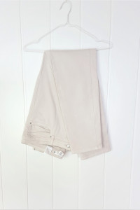 Kremowe jasne spodnie proste H&M 46 XXXL 3XL beżowe boyfriend...