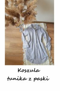 Bawełniana koszula tunika w paski Primark basic minimalizm...