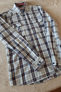 Nowa koszula unisex w kratkę Jack&Jones szara S 36...