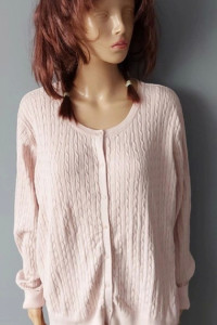 Sweter Pudrowy Róż Guziki H&M 42 XL...