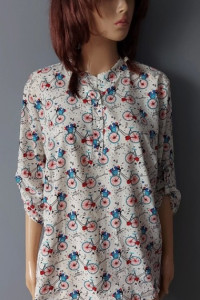 Koszula Elegancka w Rowery 42 XL