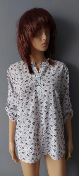 Koszule Koszula Elegancka w Kwiaty 42 XL