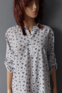 Koszula Elegancka w Kwiaty 42 XL