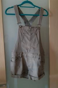 Ogrodniczki jeansowe szorty vintage khaki 38 M...
