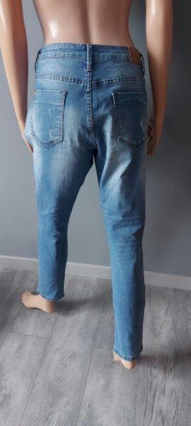Spodnie Spodnie Jeans Naszywki Dziury 40 L