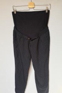 Spodnie Granatowa Paski Ciążowe H&M Mama M 38 Dresy...