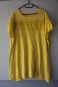 limonkowa tunika z koroanka
