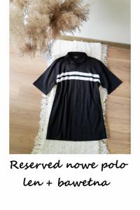 Nowe polo koszulka Reserved L XL len bawełna...