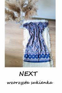 Wzorzysta sukienka M L...