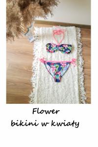 Dwuczęściowy strój kąpielowy bikini w kwiaty M L...