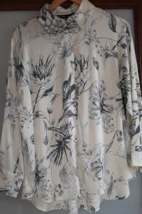 satynowa koszula Zara rozmiar S