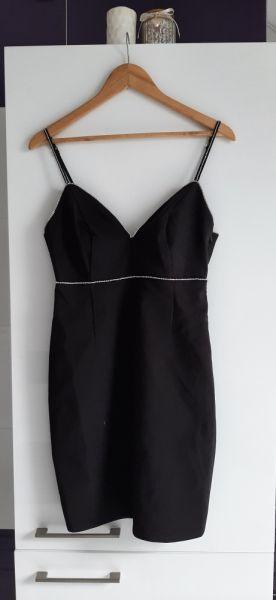 Suknie i sukienki czarna sukienka rozmiar 38