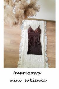Imprezowa dopasowana mini sukienka XS S M...