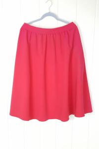 Różowa spódnica Nife 44 XXL kieszenie midi fuksja za kolano roz...