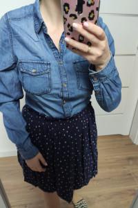Koszula jeansowa dżinsowa niebieski granatowy rozmiar M...