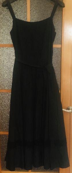 Suknie i sukienki Piękna elegancka JEDWABNA sukienka haftowana