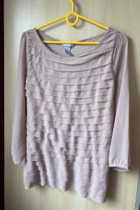 HM tiulowa bluzka falbanki rozmiar S...