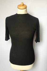 Bluzka Czarna Golf Prążkowana Gina Tricot M 38 Prążki...