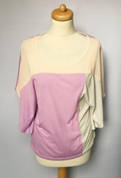 Bluzki Bluzka Amisu S 36 Nietoperz Kolorowa Pastelowa Fiolet