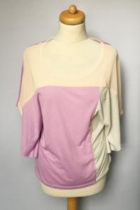 Bluzka Amisu S 36 Nietoperz Kolorowa Pastelowa Fiolet...