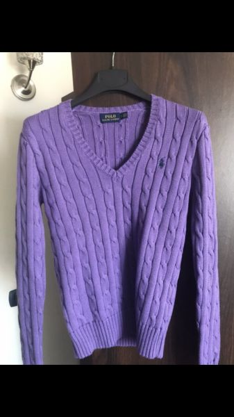 Swetry Fioletowy sweterek LAUREN
