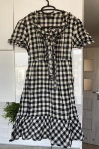 Warehouse sukienka kratka kraciasta letnia rozmiar 34
