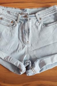 Spodenki krótkie szorty jeansowe jeansy Cotton Traders wysoki s...