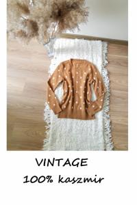 Kaszmirowy sweterek w grochy XS S vintage retro pin up kaszmir...