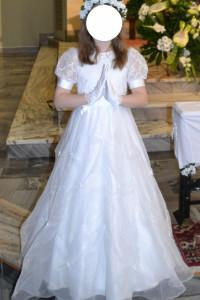 Elegancka sukienka komunijna buciki i wianek gratis