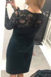 Sukienka ołówkowa butelkowa zieleń 38