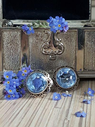 Pierścionki Wiosna w niebieskich szkiełkach