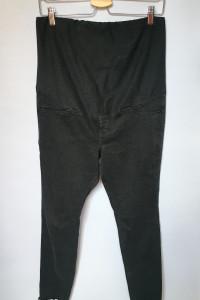 Spodnie Ciążowe H&M Mama M 38 Czarne Rurki Postrzępione Nogawki...