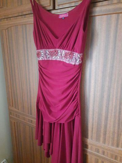 Suknie i sukienki Sukienka czerwona burgundowa Pretty Woman 36 na metce bardzo dopasowana uzywana