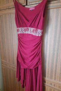 Sukienka czerwona burgundowa Pretty Woman 36 na metce bardzo dopasowana uzywana