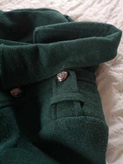 Odzież wierzchnia Zielony płaszczyk zimowy w stylu militarnym