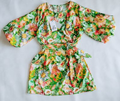 Suknie i sukienki Sukienka FLOWERS GREEN