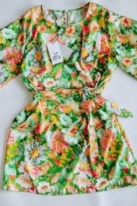 Sukienka FLOWERS GREEN...