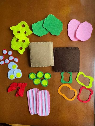Zabawki Megakanapka z filcu do tworzenia przez dziecko