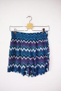 Kolorowe szorty H&M krótkie spodenki wzór aztec...