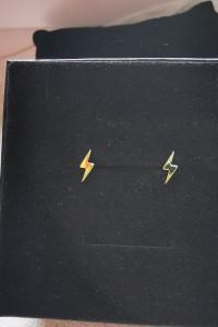 Kolczyki pioruny srebro 925 pozłacane