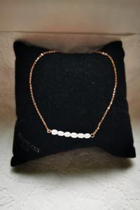 Bransoletka srebro 925 pozłacana perły słodkowodne